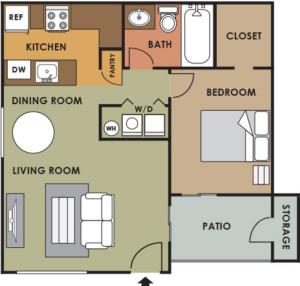 Lion-Tempe-1-Bed-1-Bath-Floor-Plan